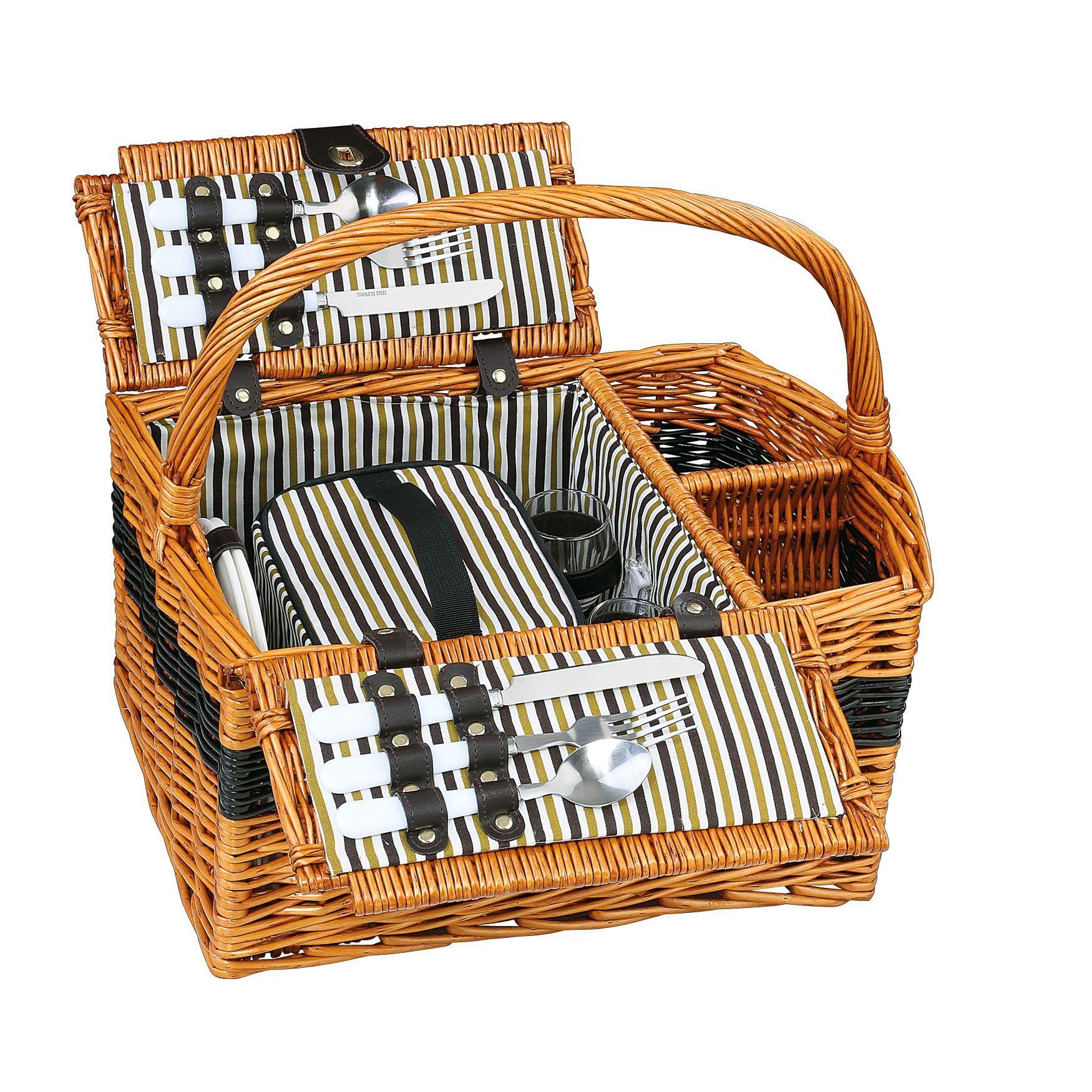 cilio picknick korb cernobbio f r 2 personen hellbraun. Black Bedroom Furniture Sets. Home Design Ideas