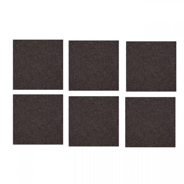 daff filz 6 st ck untersetzer 10 x 10 cm anthra mel. Black Bedroom Furniture Sets. Home Design Ideas