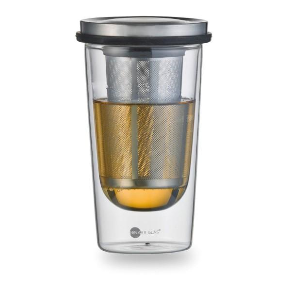 Jenaer Glas Primo Tea Set Double Walled 0 35 Litre Hot N Cool Tea
