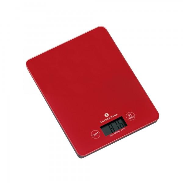 Zassenhaus Digital Kitchen Scales Balance Red Scales Measuring Cups Preparing Cooking Cooking Baking 1a Neuware Englisch