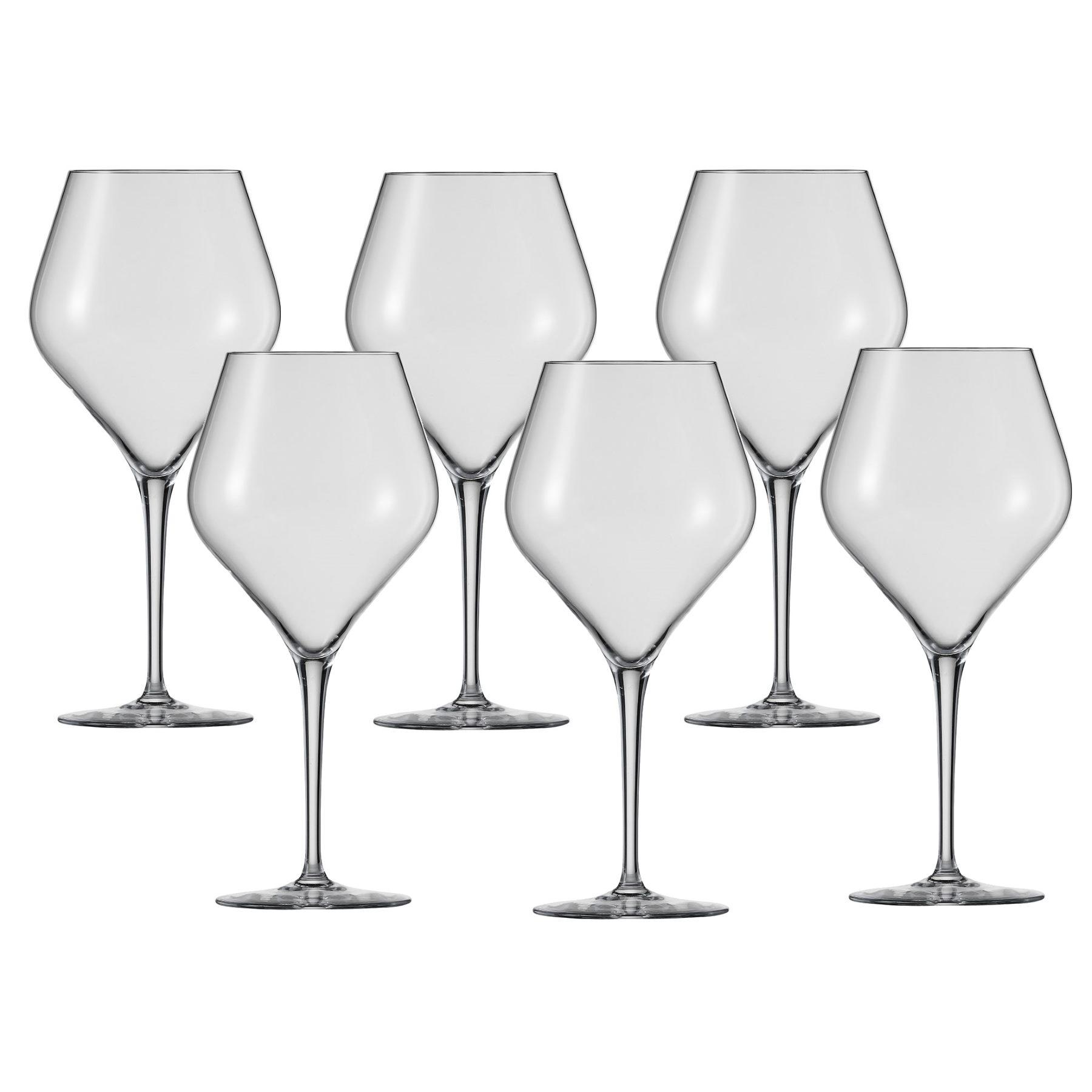 schott zwiesel serie finesse burgunderglas 6 st ck rotweingl ser gl ser essen trinken. Black Bedroom Furniture Sets. Home Design Ideas