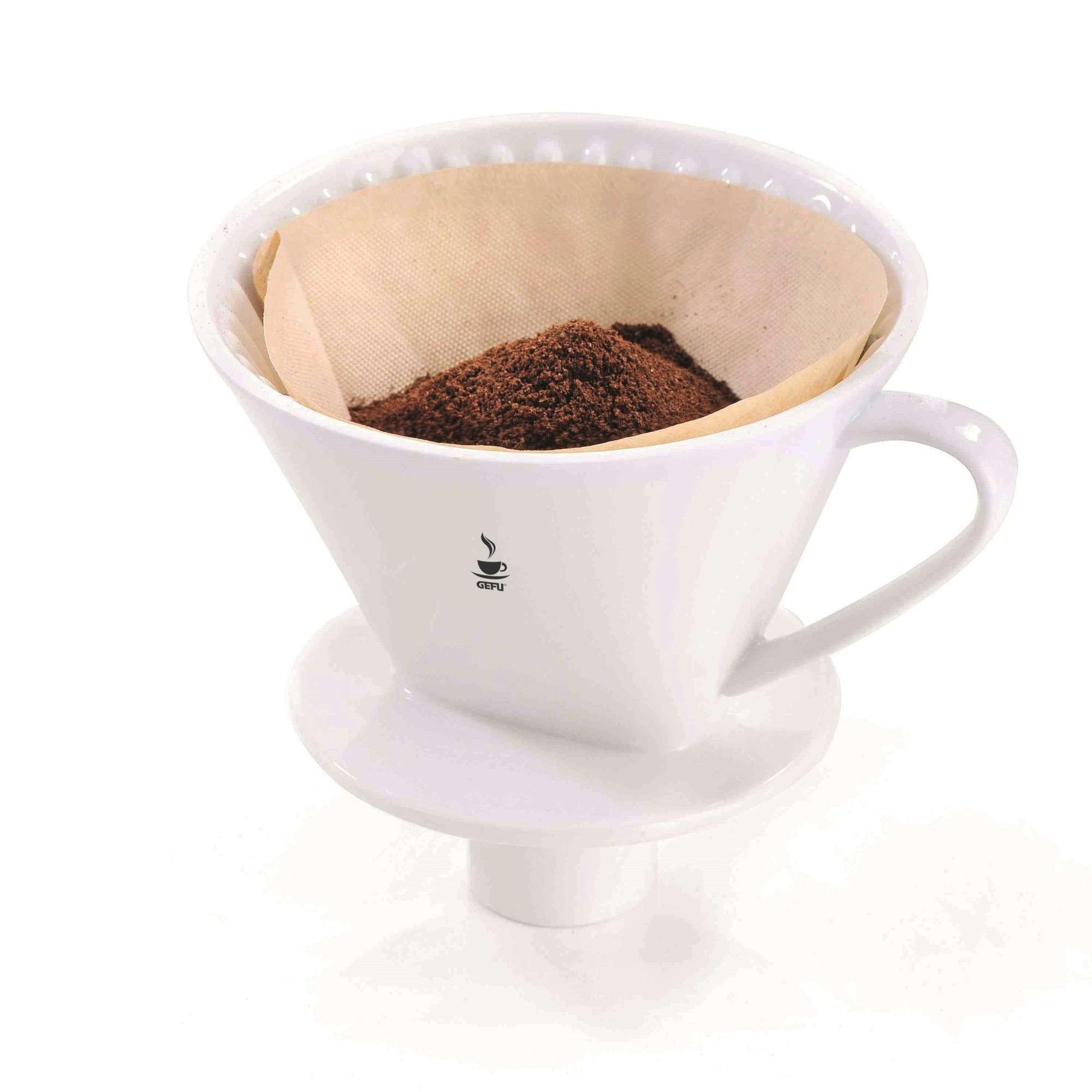 4 mit Stutzen und Tropfstopp Gefu Kaffeefilter Fabiano Gr