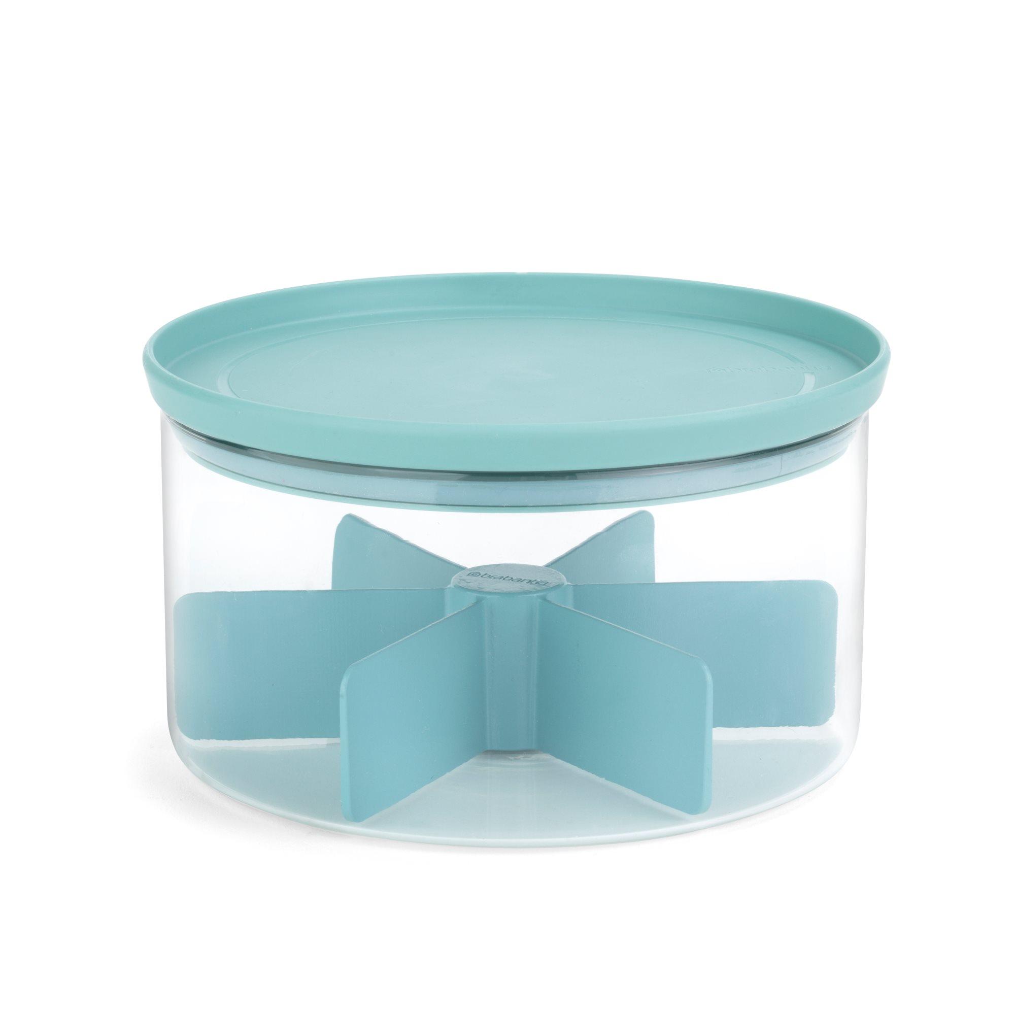 brabantia teedose glas stapelbar mit deckel f r bis zu 60 teebeutel vorratsdosen. Black Bedroom Furniture Sets. Home Design Ideas