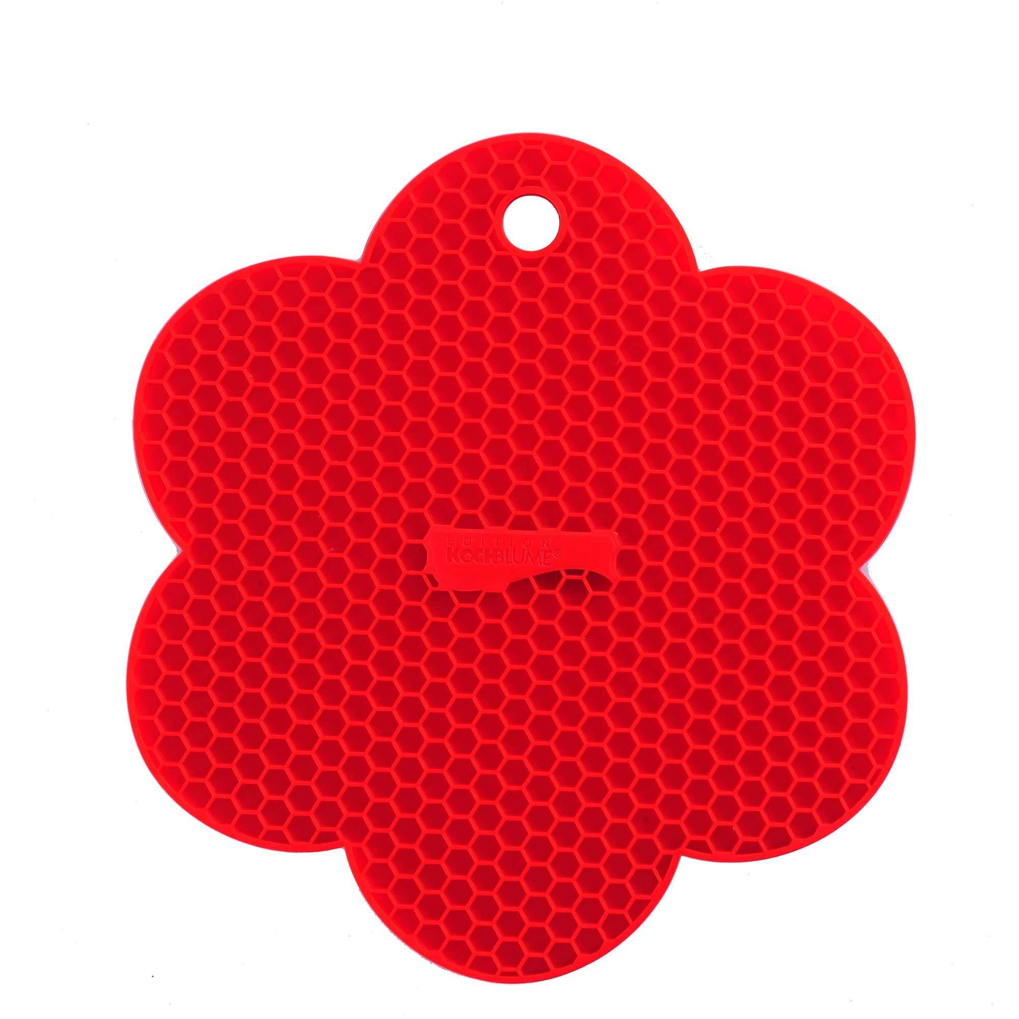 KOCHBLUME Waben-Untersetzer Blume LIMETTE Silikon Topflappen