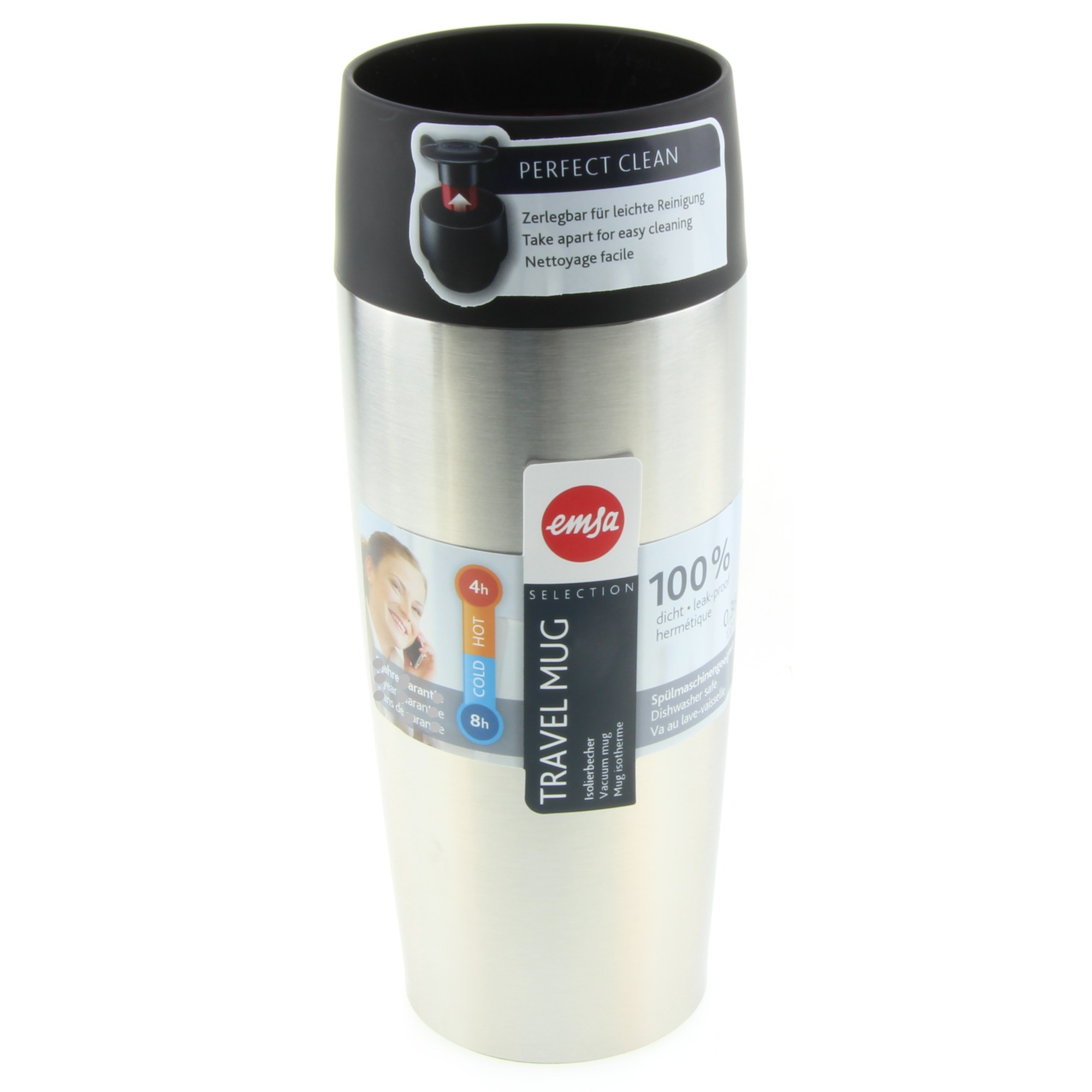 Emsa Travelmug Vacuum Mug Travel Mug Stainless Steel Vacuum Flasks Mugs Vacuum Jugs Flasks Eating Drinking 1a Neuware Englisch