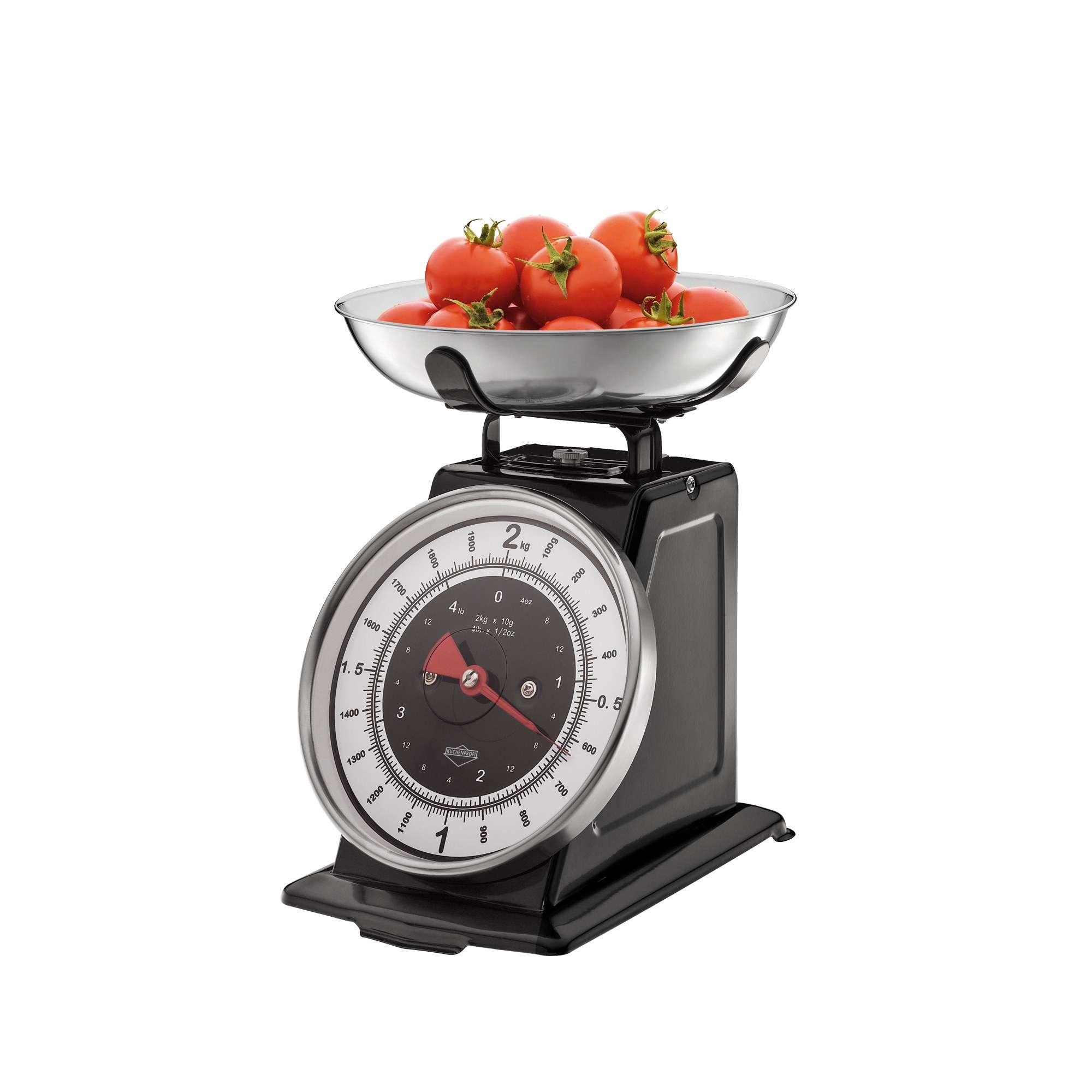 Kuchenprofi Nostalgie Kitchen Scales Black Scales Measuring Cups