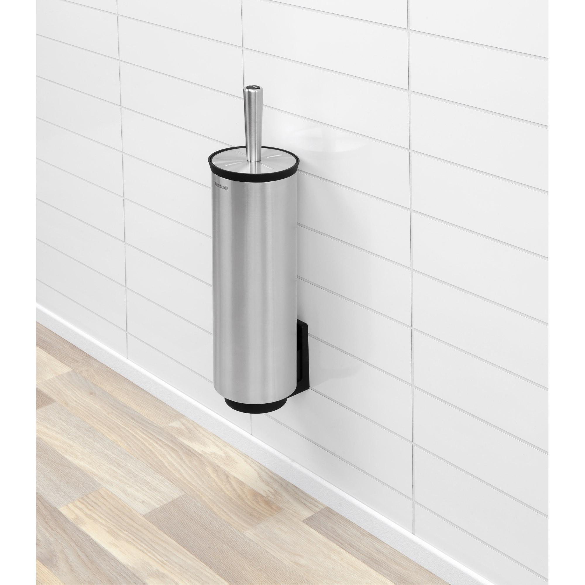 brabantia toilettenb rste deluxe mit halter edelstahl matt steel toilettenb rsten halter. Black Bedroom Furniture Sets. Home Design Ideas