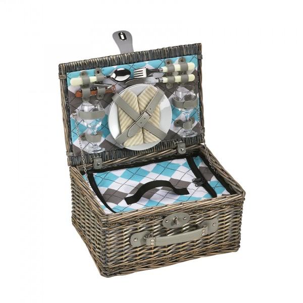 cilio picknick korb stresa deluxe f r 2 personen olivgr n. Black Bedroom Furniture Sets. Home Design Ideas