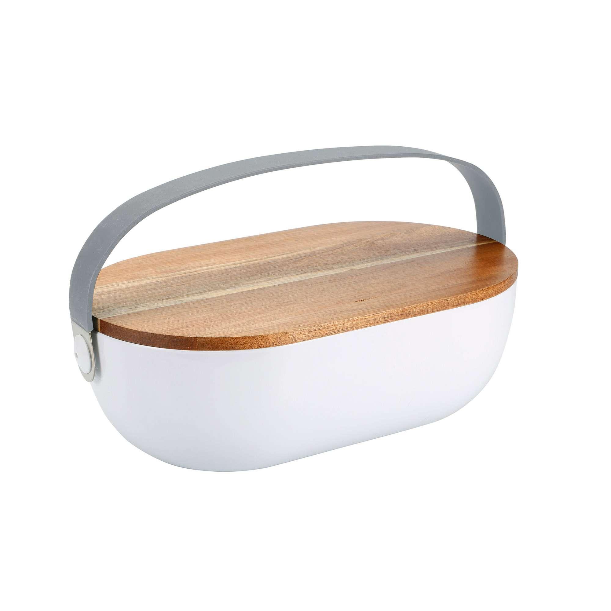 Holz Wei/ß Elegante Marken Brotkasten 40/x 24/x 31/cm