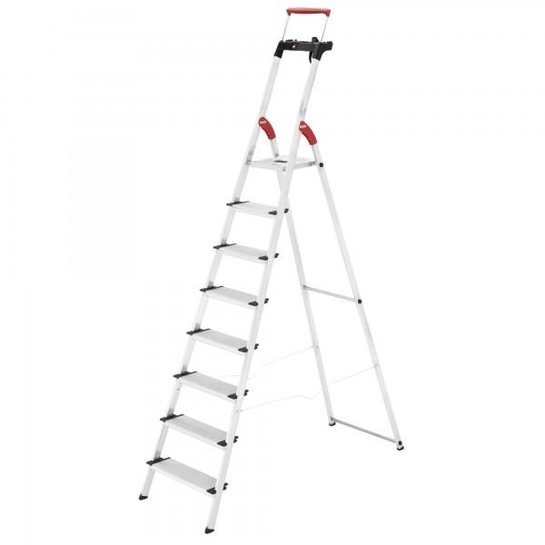 hailo comfortline xxr easyclix aluminium haushaltsleiter 8 stufen haushaltsleitern. Black Bedroom Furniture Sets. Home Design Ideas