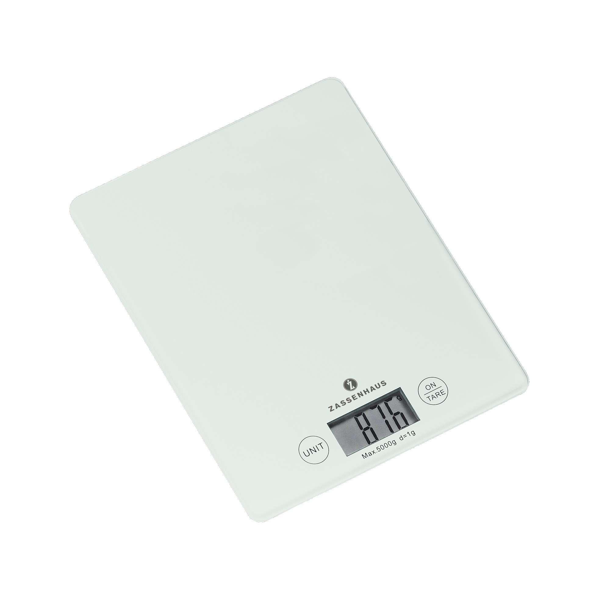 Zassenhaus Balance Digital Kitchen Scales White Scales Measuring